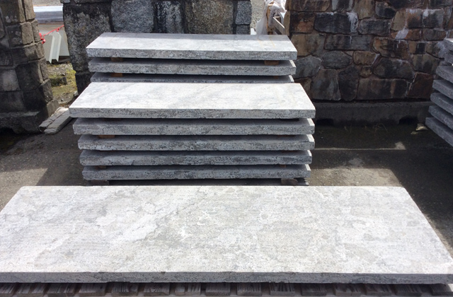 Blue Limestone Treads