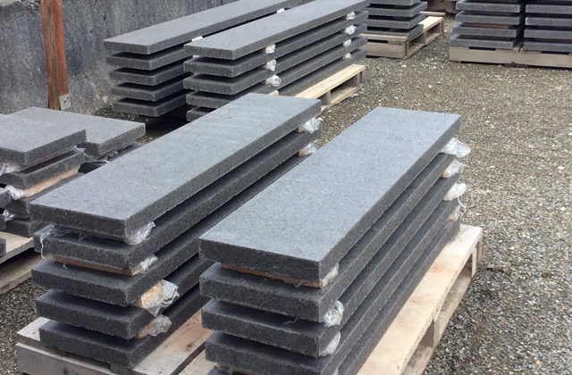 Pacific Black Basalt Treads