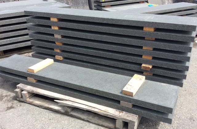 Pacific Black Basalt Treads