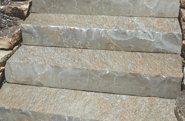 French Vanilla Limestone Steps