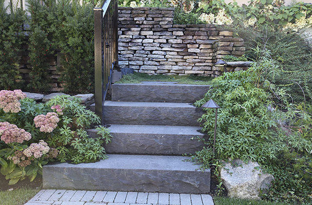 Pacific Black Basalt Steps